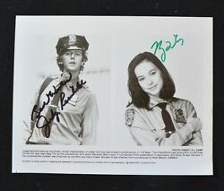 Judge Reinhold And Meg Tilly Authentic Autographs 8 X10 From Off Beat Rare