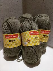 Spinnerin Vintage *Terra* 3ply Lot of 3 50gBalls 28g extra of same