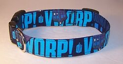 Wet Nose Designs Dog Collar Hand Made With Doctor Who Fabric Tardis Dr Who
