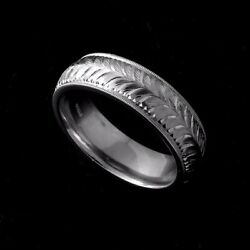 Engraved By Hand Eternity Menand039s Wedding Band 7mm Platinum 950