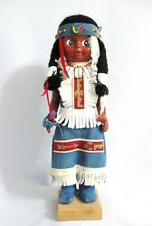 Vintage 1960s Eleven Inches Rubber Body Native American / Indian Girl Doll..nice