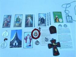 Catholic Lot Medals Pins Book Marks