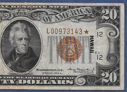 1934a 20 Hawaii ♚star♚  ♚star♚ Pcgs Very Fine 25  Hard To Find