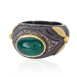 New Arrival 4.88ct Emerald Diamond Ring 14kt Gold 925 Sterling Silver Jewelry