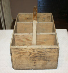 Antique Hand Made Wood Milk Bottle Carrying Case Using Sunsweet Prunes Crate
