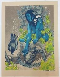 John Baizley Print Kvelertak Variant Signed And Numbered Poster Limited X/4