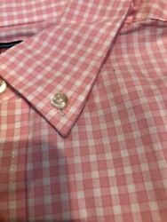 Vineyard Vine Menand039s Button Down Slim Fit Whale Shirt Nwt Pink Check Seabrook