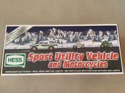 Hess Sport Utility Vehicle And Motorcycles 2004 Hess Toy Truck New Nib