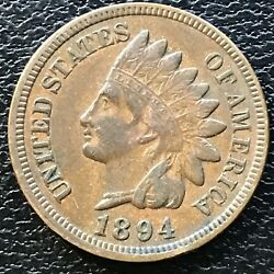 1894 Indian Head Cent 1 Cent High Grade One Penny 13076