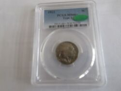 1913 , Indian Head Buffalo , 5 Cents , Nickel , Type 1 , Pcgs/cac , Ms66+