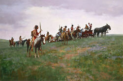 Howard Terpning Whiskey Smugglers, Sioux, Paper Giclee Artist Proof Ap19/22