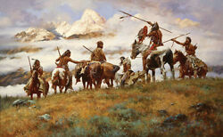 Howard Terpning The Ploy W/remarque Native American Giclee Canvas 87/90