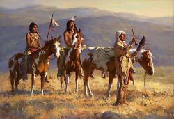 Howard Terpning Grandfather Prays To Sun Giclee Canvas Native American
