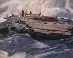 John Buxton Brief Delay At The Wall Giclee Canvas Eastern Native American 10/10