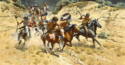 Frank Mccarthy The Decoys Native Americansioux Anniversary Giclee Canvas 2/25