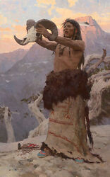 Z S Liang The Vision Quest Native American Giclee Canvas 1/25