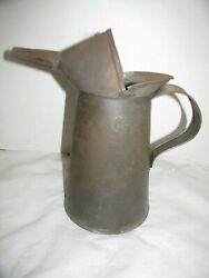 Antique Dover 1qt Gas/oil Can Ny City - Penna Approved 103 M3 Railroad Lqqk