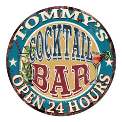 Cpco-0161 Tommy's Cocktail Bar Tin Sign Valentine Father's Day Christmas Gift