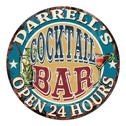 Cpco-0165 Darrell's Cocktail Bar Tin Sign Valentine Father's Day Christmas Gift