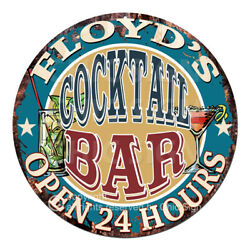 Cpco-0167 Floyd's Cocktail Bar Tin Sign Valentine Father's Day Christmas Gift