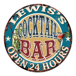Cpco-0180 Lewis's Cocktail Bar Tin Sign Valentine Father's Day Christmas Gift
