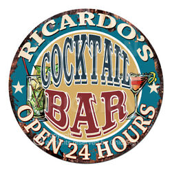 Cpco-0191 Ricardo's Cocktail Bar Tin Sign Valentine Father's Day Christmas Gift