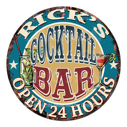 Cpco-0193 Rick's Cocktail Bar Tin Sign Valentine Father's Day Christmas Gift