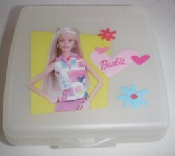 Tupperware Barbie White Sandwich Keeper Lunch Jewelry Container Doll Accessories