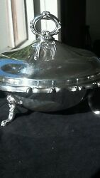 Vintage Eb Rogers Silver Plate Casserole/vegetable Server With Lid.