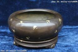 Marked Pure Bronze Copper Chinese Dynasty Buddhism Temple Incense Burner Censer