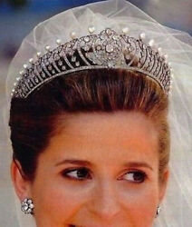 10.36ct REAL ANTIQUE ROSE CUT DIAMOND PARTY WEAR PEARL TIARA CROWN FOR WEDDING