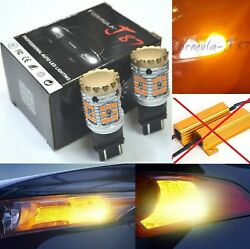 Canbus Error Free Led Light Ck 4157 Amber Two Bulbs Front Turn Signal Replace Oe