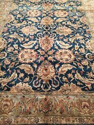 Area Rug Fine Indo_agra Hand Knotted Decorative Design 9.3 X 12.0 Great Price .