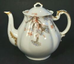 Haviland And Co. Limoges France Teapot W Gold For Wood Bicknall And Potter Prov. Ri