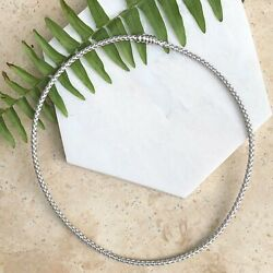 14kt White Gold Basketweave Weave Neckwire Chain Necklace 16.5 Mesh Collar 3 Mm