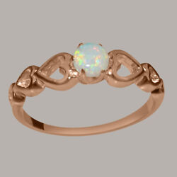 Solid 10k Rose Gold Natural Opal Womens Solitaire Ring - Sizes 4 To 12