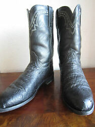 Lucchese 2000 Ostrich Cowboy Boots Menand039s 9.5 D