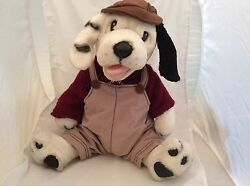 Fine Toy Dog Hound Stuffed Animal Plush Pre-owned Knit Sweater Overalls Hat