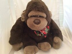 Cuddle Wit Creation Ape Gorilla Stuffed Animal Plush Pre-owned Floral Scarf 1991
