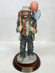 Flambro Emmett Kelly Jr. Signed Figurine Balloons For Sale Limited Edition 314