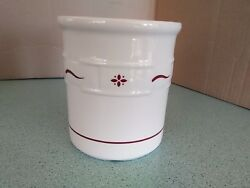 Longaberger Usa Pottery 1 One Quart Qt Crock In Traditional Red New No Box