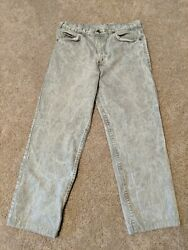 Vintage Leviand039s Gray Acid Wash Orange Tab Two Horse Jeans 34x30 Actual 33x27 High