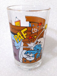 Rare Vintage Water Cup ✱ Smurfs Schlumpfe Schtroumpfs ✱ Collection Glass 1994 4