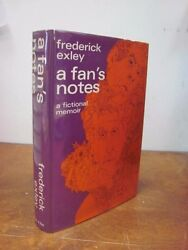 A Fan's Notes by Frederick Exley HC First 1st Like New Hardcover 1968