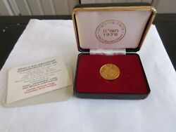 1978 Israel 30th Anniversary Proof 12g Gold 900 Ngc Pf 67 Ultra Cameo