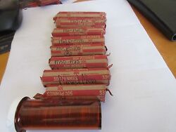 1960and039s Lincoln Penny Rolls Circulated Lot Of 20 Rolls
