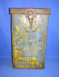 Vintage Old Collectible Rare Shell Motor Gear Oil Advertisement Tin / Cans-tier
