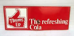 Vintage Old Thums Up The Refreshing Cola Ad Iron Porcelain Enamel Big Sign Board