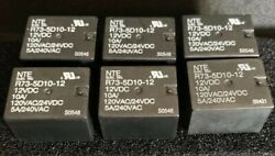 """Lot Of 6 Nte R73-5d10-12 12vdc Power Relay """"new"""" Free Shipping"""