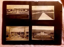 Ww1 Mixed European Memorials And Cemeteries Lot Of 11 Postcards Glued To Paper
